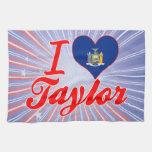Amo a Taylor, Nueva York Toallas De Mano