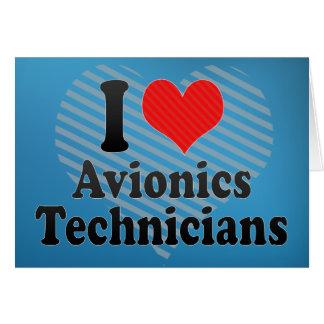 Amo a técnicos de la aviónica felicitacion