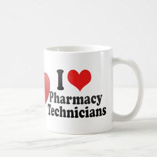 Amo a técnicos de la farmacia taza