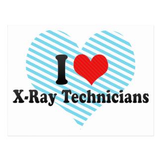 Amo a técnicos de la radiografía tarjetas postales