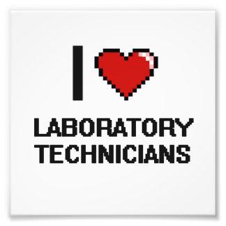 Amo a técnicos de laboratorio impresión fotográfica