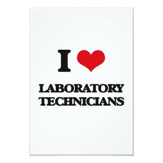 Amo a técnicos de laboratorio invitación 8,9 x 12,7 cm