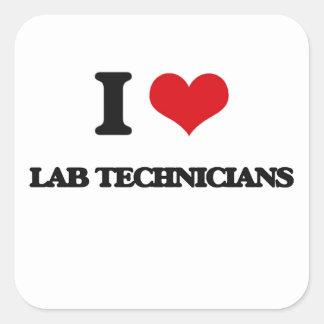Amo a técnicos de laboratorio colcomanias cuadradases