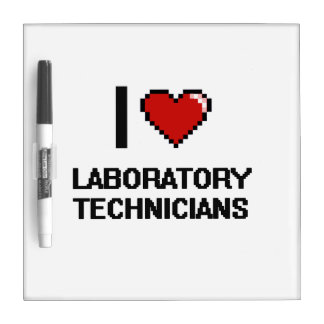 Amo a técnicos de laboratorio pizarra blanca