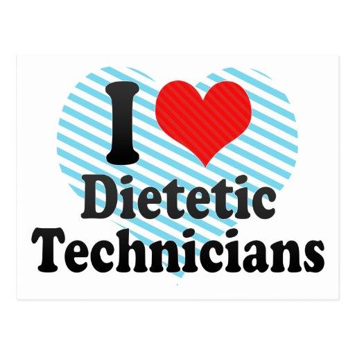 Amo a técnicos dietéticos postales