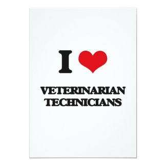 Amo a técnicos veterinarios comunicado personalizado