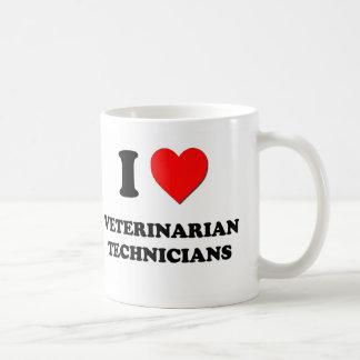 Amo a técnicos veterinarios tazas