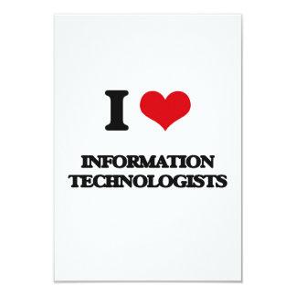 """Amo a tecnólogos de la información invitación 3.5"""" x 5"""""""