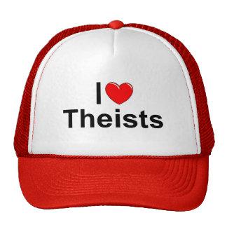 Amo a teístas (del corazón) gorras de camionero