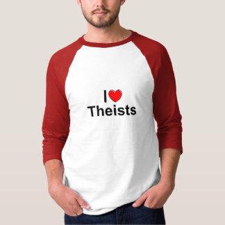 Amo a teístas (del corazón) playera