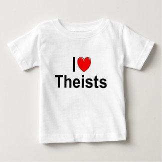 Amo a teístas (del corazón) playeras