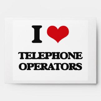 Amo a telefonistas sobres