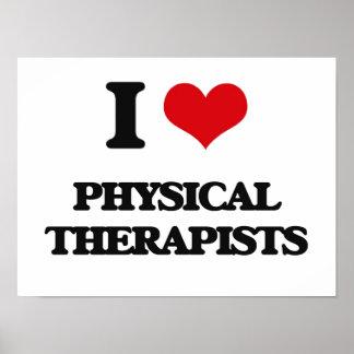 Amo a terapeutas físicos poster