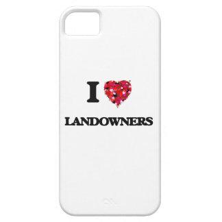 Amo a terratenientes iPhone 5 funda