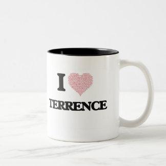 Amo a Terrence (el corazón hecho de palabras del Taza De Dos Tonos