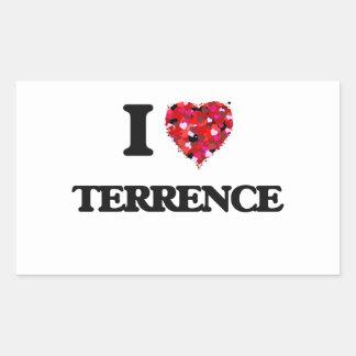 Amo a Terrence Pegatina Rectangular