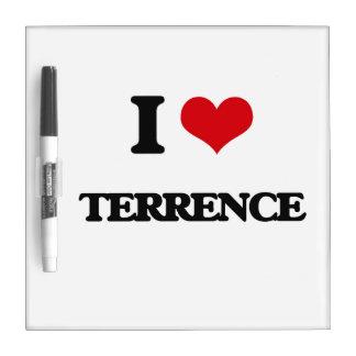 Amo a Terrence Pizarra