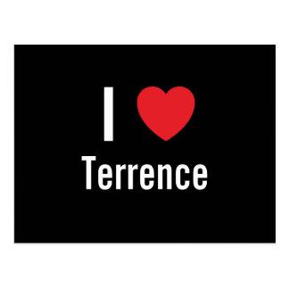 Amo a Terrence Tarjeta Postal