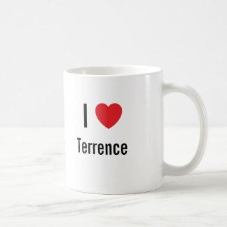Amo a Terrence Taza Básica Blanca