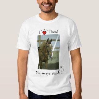 ¡Amo a Theo! Camiseta de Mariways Playera