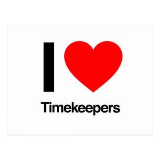 amo a timekeepers tarjetas postales