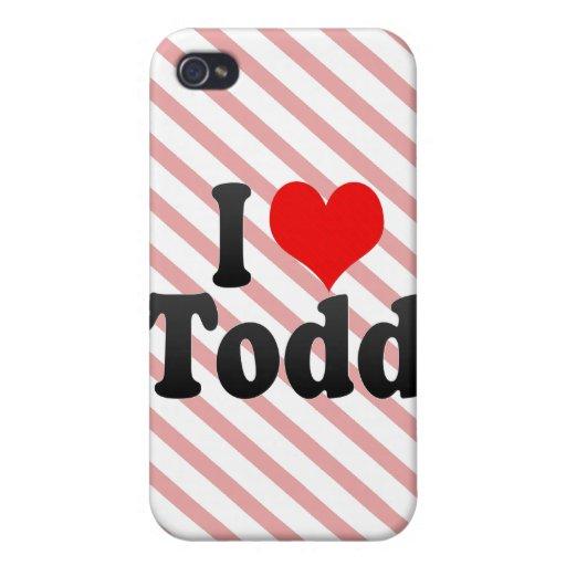 Amo a Todd iPhone 4 Funda