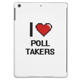 Amo a tomadores de encuesta funda para iPad air