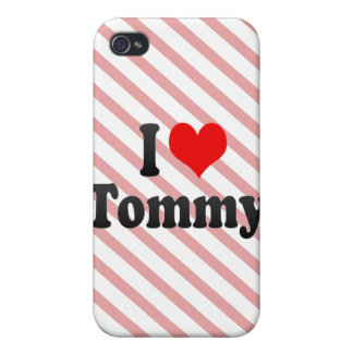 Amo a Tommy iPhone 4 Fundas