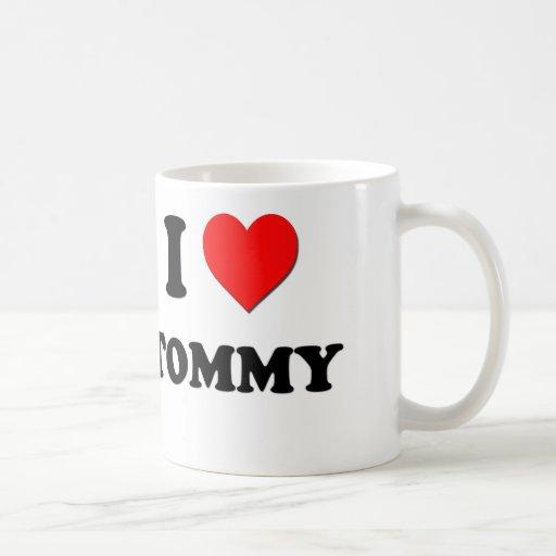 Amo a Tommy Taza Básica Blanca