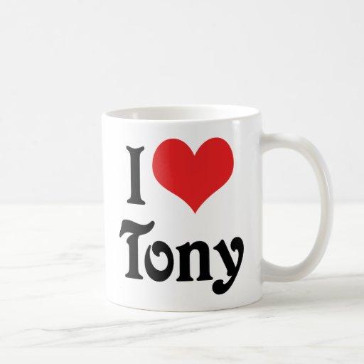 Amo a Tony Taza De Café