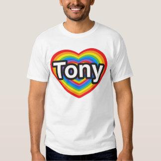 Amo a Tony. Te amo Tony. Corazón Remera