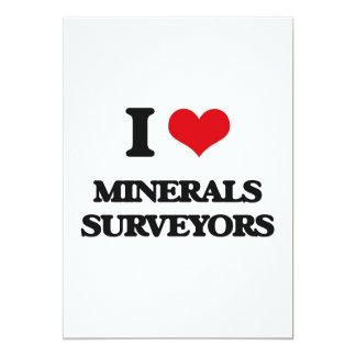 Amo a topógrafos de los minerales invitacion personal