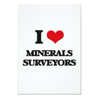 Amo a topógrafos de los minerales comunicado personalizado