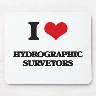 Amo a topógrafos hidrográficos tapete de ratones