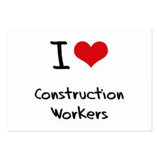 Amo a trabajadores de construcción plantillas de tarjetas de visita