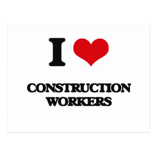 Amo a trabajadores de construcción postales