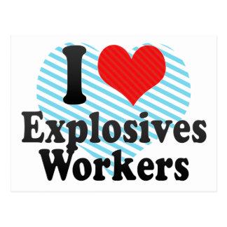 Amo a trabajadores de los explosivos postales
