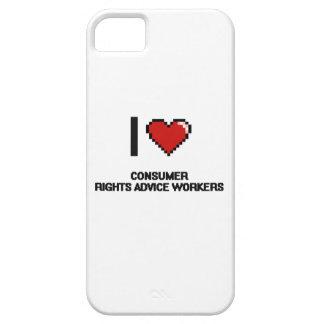 Amo a trabajadores del consejo de las derechas de iPhone 5 carcasas