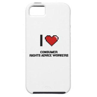 Amo a trabajadores del consejo de las derechas de iPhone 5 Case-Mate cárcasas