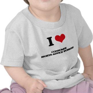 Amo a trabajadores del consejo de las derechas de camisetas