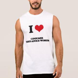 Amo a trabajadores del consejo de las derechas de camiseta sin mangas