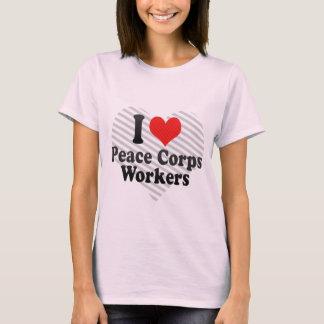 Amo a trabajadores del cuerpo de paz playera