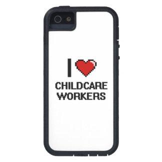 Amo a trabajadores del cuidado de niños funda para iPhone 5 tough xtreme