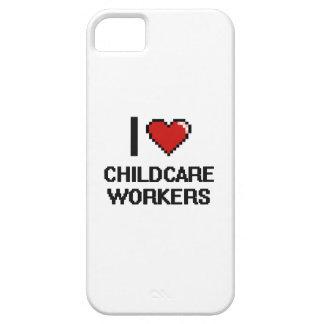 Amo a trabajadores del cuidado de niños funda para iPhone 5 barely there