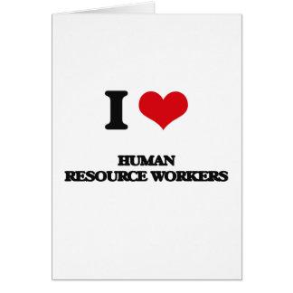 Amo a trabajadores del recurso humano felicitacion