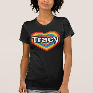 Amo a Tracy. Te amo Tracy. Corazón Camiseta