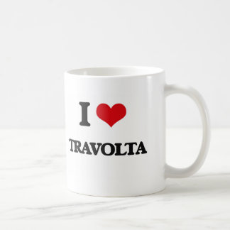 Amo a Travolta Taza Básica Blanca