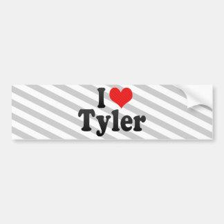 Amo a Tyler Pegatina De Parachoque