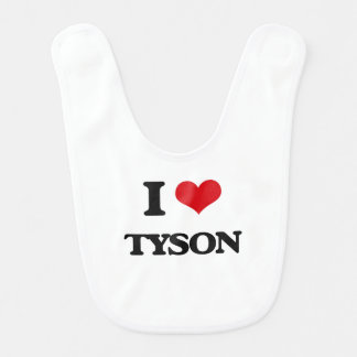 Amo a Tyson Babero Para Bebé