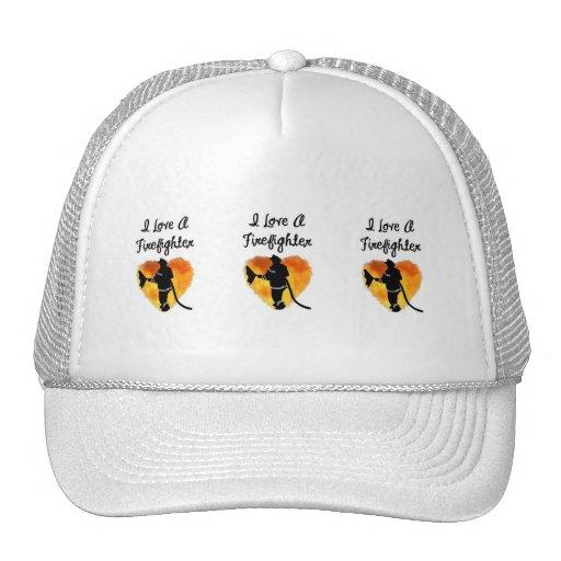 Amo a un bombero gorras
